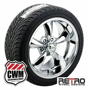 17 18 Inch Staggered Chrome Wheels Rims Tires For Chevy Bel Air 150 210