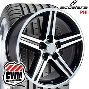 20x8 Inch Iroc Z Chevy Camaro Black Wheels Rims 5x4 75 0 Mm 245 30zr20 Tires