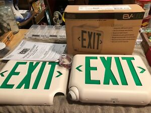 Exit Sign Evcugwd4 Led Emergency Battery Back Up120 277 V Brand New In Box