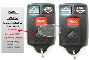 Lot 2 Two Dodge Keyless Remote Entry Gq43vt7t Transmitter Key Fob Keyfob Alarm