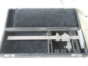 Starrett No 454 Vernier Caliper Height Gage Gauge Case