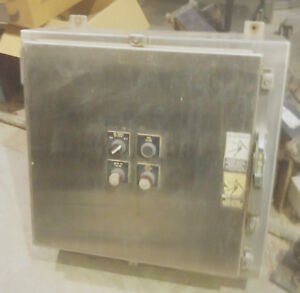 Stainless Steel Hoffman Electrical Enclosure 26 X 24 X 8