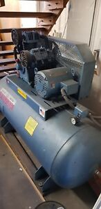 120 Gallon Air Compressor Falcon Usa Made heavy Duty Barely Used Runs Smooth