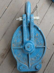 Columbia Skookum Cable Rigging Rope Block Pulley 12 Wide Throat Tommy Moore Typ