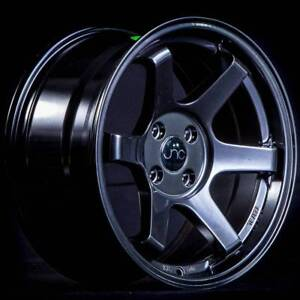 16x8 Jnc 007 Jnc007 4x100 20 Matte Black Wheel Rims Set 4