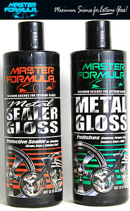 New Master Formula Metal Gloss Sealer Gloss Auto Motorcycle Harley Chrome Polish