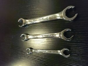 Sk Metric Flare Nut Wrench Set 10mm 12mm 15mm 17mm 19mm 21mm