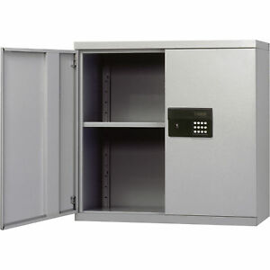 Keyless Electronic Steel Wall Cabinet 30 X 12 X 30h Gray Kdew3012 05