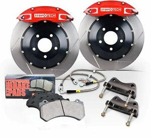Stoptech For 13 15 Subaru Brz Bbk Front St 40 Red Caliper 328 X 28 Slotted Rotor