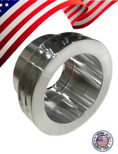 Small Block Ford 289 302 2v Groove Crank Pulley With 3 Bolt Damper Sbf Billet