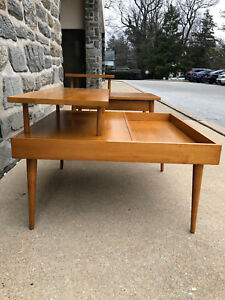 1960s Paul Mccobb 2 Tier Side Table Planner Group Winchendon