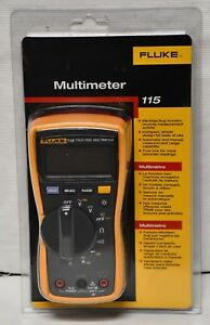New Fluke 115 True rms Digital Multimeter 600 volt Factory Sealed