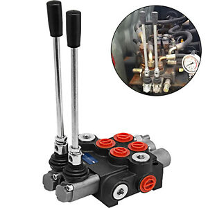 2spool Hydraulic Directional Control Valve 11gpm Small Tractors Double Acting