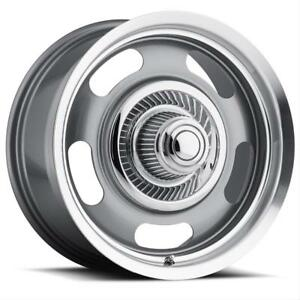 Vision American Muscle 55 Rally Aluminum Gunmetal Wheels With Machined Lip