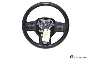 13 16 Dodge Ram 1500 5 7l Oem Leather Steering Wheel Cruise Switches