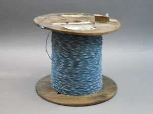 Spool Of 2400 Feet Universal 18awg Wire Blue And White Stripe