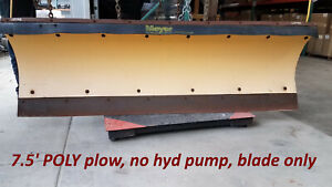 Meyer 7 5 Full Trip Poly Snow Plow 4 Tractor Or Skid Steer Hyd Angle Up144