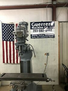 Bridgeport Series Vertical Milling Machine W Milling Vise 42 Table