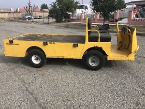 Used Taylor Dunn B2 48 Industrial Flatbed Electric Utility Cart