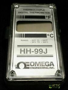 Omega Hh 99j Thermocouple Digital Thermometer Used Works