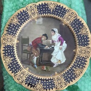 Rare Charles Pillivuyt Co 1867 Medaille D Or Hand Painted Portrait Plate