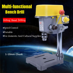 220v 450w Electric Bench Drill Press Stand Workbench Repair Tool For Drilling
