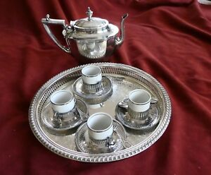 Silver Antique Complete Coffee Set Very Rare Just Reduced