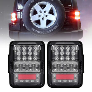 Brightest Osram Led Rear Brake Reverse Tail Lights For 07 17 Jeep Wrangler Jk Tj