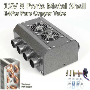 Universal Heater 12v Dual Sides 8 Port 14 Pass All Copper Coil Car Truck Vintage