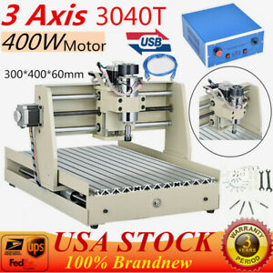Usb 400w 3axis Cnc 3040 Router Engraver Milling Machine Wood Pcb 3d Cutter Usa