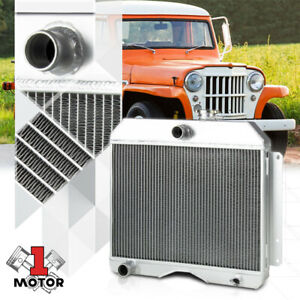 Aluminum 3 Row Performance Radiator For 46 64 Willys Station Wagon jeep Truck