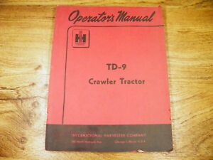 Ih International Td 9 Td9 Crawler Dozer Operators Manual With Lube Chart