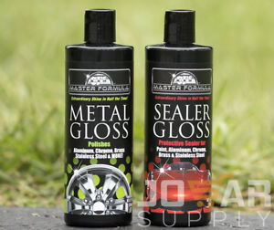 New Master Formula Sealer Gloss Metal Gloss Auto Brass Aluminum Chrome Polish