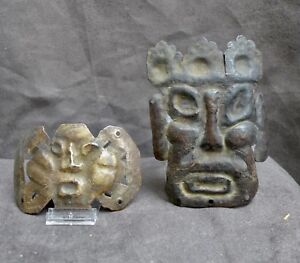 Two Old And Nice Copper Masks Tibet Or Nepal Ca 1900 Or Much Older