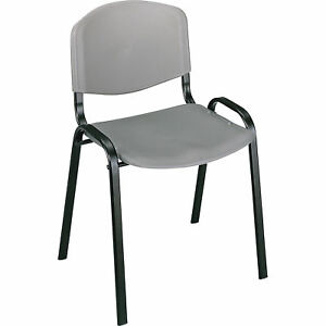 Mayline Safco Stack Chairs Set Of 4 Charcoal Model 4185ch