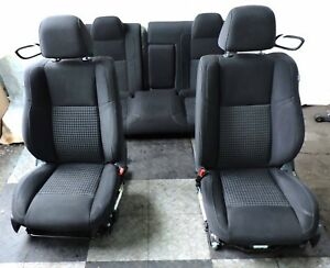 2008 16 Dodge Challenger Seats Seat Bucket Electric Cloth Complete Set Oem Black