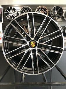 20 Staggered Gts Style Black Wheels Fits Porsche Panamera Boxster Cayman 911