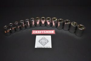 New Craftsman 14pc 1 2 Dr Metric Mm 6pt Socket Set Lot