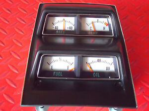 1968 1969 Chevy Camaro Console Guage Assembly New With Correct Silver Backing