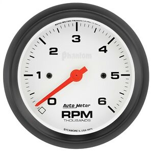 Autometer 5875 Phantom Ii In Dash Tachometer With White Dial Face
