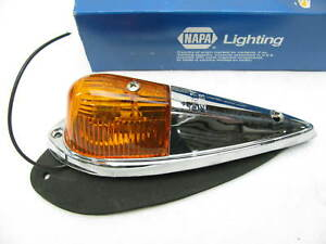 New Vintage Dietz 2 18 Chrome Cab Fender Light Lamp W Amber Lens Napa 1312a