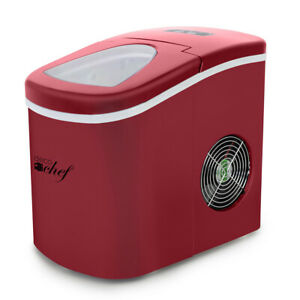 Deco Chef Portable Ice Maker Countertop Machine red Makes 26lbs Of Ice Per Day