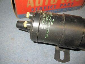Vintage Nos Original Autolite Cad 4004 12v Ignition Coil 1950 S Packard And