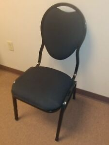 Black Stacking Banquet Chair Qty 10