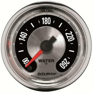 Autometer American Muscle Electrical Water Temperature Gauge 2 1 16 Dia 1255