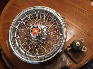 14in Wire Oem Locking Hubcaps Set Of 4 Nos Chevrolet