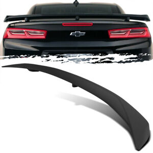 For 16 19 Chevy Camaro Zl1 Style Unpainted Abs Rear Trunk Deck Lid Spoiler Wing