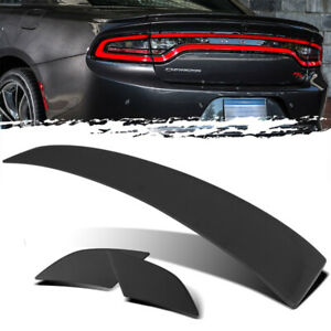 For 11 18 Dodge Charger 3pc Factory Style Unpainted Trunk Deck Lid Spoiler Wing