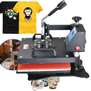 8in1 Digital Heat Press Machine Transfer 38x29cm Platen Diy Printing T shirt