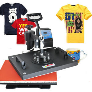 8 In1 Heat Press Machine Printing Transfer Sublimation T shirt Mug Diy Making